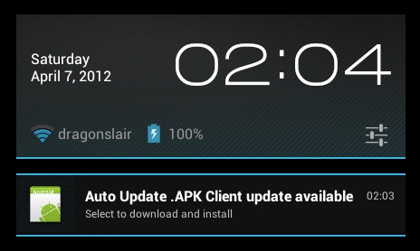 auto update apk screenshot